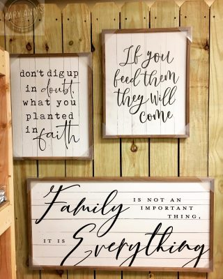 Have you seen the wall art from Benson Marketing Group? We love it ALL!! We are open M-F, 9:00-5:00 and the 1st Saturday of each month! #maryannswholesale #bensonmarketinggroup #homedecor #walldecor #farmhousestyle #farmhousestyledecor Not open to the public