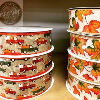 Fall is around the corner...do you need some of this gorgeous ribbon? #ribbon #seasonalribbon #floraldesign #floralribbon Not open to the public