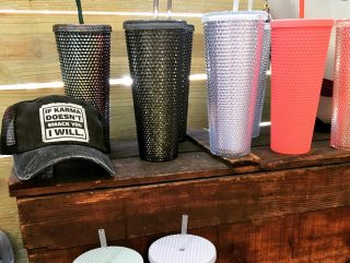 We have designer tumblers, new hats and pop-its! #maryannswholesale #boutique #boutiquestyle #tumblers Not open to the public