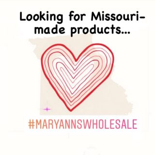 We are looking for vendors from Missouri who make products and who would like to be a wholesale vendor to retail businesses at Mary Ann's Wholesale! We would love to partner with you! Contact us at the email in our profile today! #maryannswholesale Not open to the public